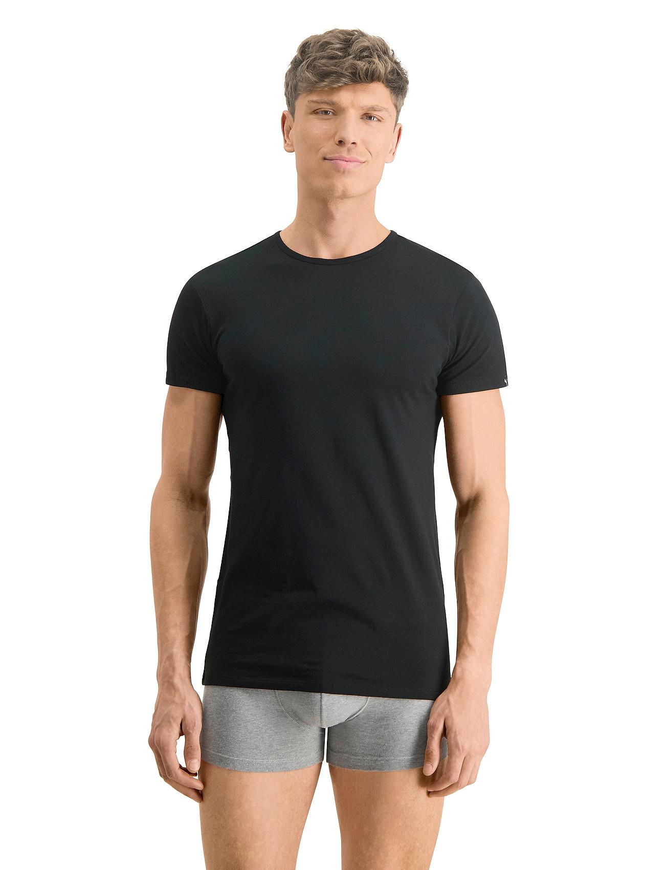 PUMA - PUMA BASIC 2P CREW TEE - t-shirts - black - 0