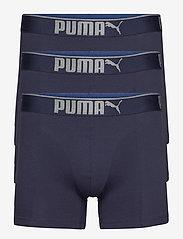 PUMA PREMIUM SUEDED COTTON BOXER 3P - NAVY