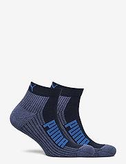 PUMA - PUMA UNISEX BWT CUSHIONED  QUARTER - vanliga strumpor - navy / grey / strong blue - 1