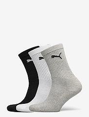 PUMA - PUMA JUNIOR CREW SOCK 3P - strumpor - grey/white/black - 0