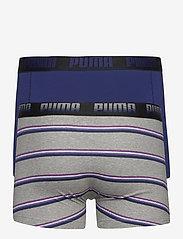 PUMA - PUMA MEN GRADIENT STRIPE BOXER 2P - boxer briefs - middle grey melange / blue - 7