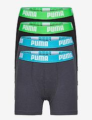 PUMA BOYS BASIC BOXER 4P ECOM - INDIA INK / TURQUOISE
