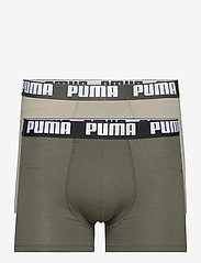 PUMA BASIC BOXER 2P - DARK GREEN COMBO