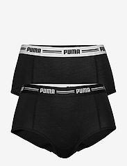 PUMA - PUMA ICONIC MINI SHORT 2P HANG - broekjes - black - 0