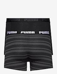 PUMA - PUMA HERITAGE STRIPE BOXER 2P - boxer briefs - black - 3