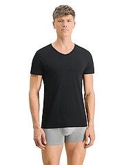 PUMA - PUMA BASIC 2P CREW TEE - t-shirts - black - 4