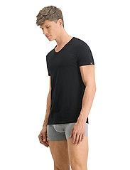 PUMA - PUMA BASIC 2P CREW TEE - t-shirts - black - 5