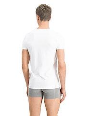 PUMA - PUMA BASIC 2P V-NECK - t-shirts - white - 3