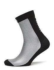 SG TRANSPARANCY FRONT SOCK 1P - BLACK