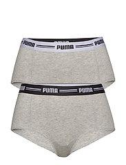 PUMA ICONIC MINI SHORT 2P HANG - GREY / GREY