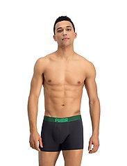 PUMA - PUMA PLACED LOGO BOXER 2P - boxer briefs - green - 2