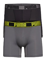 PUMA ACTIVE BOXER 2P PACKED - GREY YELLOW