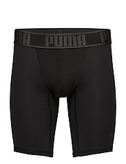 PUMA ACTIVE LONG BOXER 1P PACKED - BLACK/RED