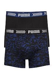 PUMA BASIC BOXER ABSTRACT CAMO PRINT 2P - BLUE / BLACK
