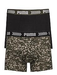 PUMA BASIC BOXER ABSTRACT CAMO PRINT 2P - GREEN / BLACK
