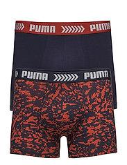 PUMA BASIC BOXER ABSTRACT CAMO PRINT 2P - RED / BLUE