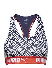 PUMA LOGO COLLAGE PRINT RACER BACK TOP 1P - BLUE / RED