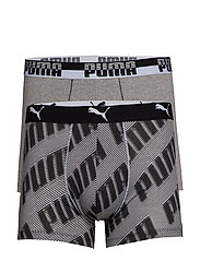 PUMA BASIC BOXER 2P AOP WORDING - BLACK
