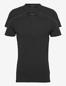 PUMA BASIC 2P CREW TEE - t-shirts - black