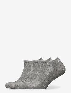 PUMA CUSHIONED SNEAKER 3P UNISEX - korte strømper - middle grey melange