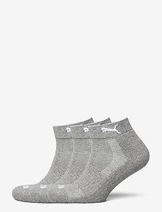 PUMA CUSHIONED QUARTER 3P UNISEX - kousen - middle grey melange