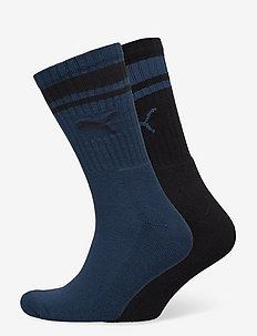 PUMA CREW HERITAGE STRIPE 2P UNISEX - vanliga strumpor - intense blue/black
