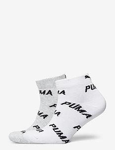 PUMA UNISEX BWT QUARTER 2P - ankle socks - white / grey / black