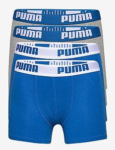 PUMA BOYS BASIC BOXER 4P ECOM - nederdelar - blue / grey