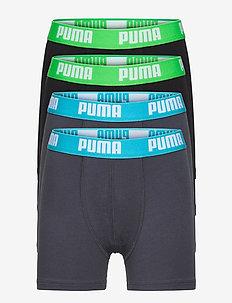 PUMA BOYS BASIC BOXER 4P ECOM - sous-vêtements pour hommes - india ink / turquoise