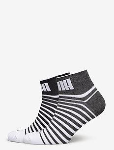 PUMA UNISEX QUARTER 2P - regular socks - black / white