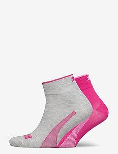 PUMA QUARTER 2P UNISEX PROMO - regular socks - pink combo