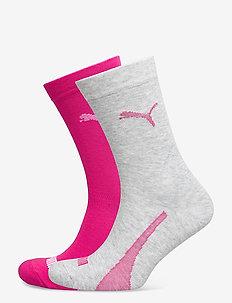 PUMA SOCK 2P UNISEX PROMO - tavalliset sukat - pink combo