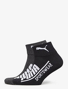 PUMA MEN  LOGO QUARTER 2P - knöchelsocken - black / anthracite