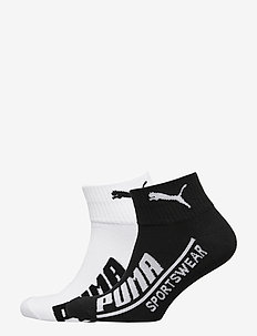 PUMA MEN  LOGO QUARTER 2P - knöchelsocken - black / white