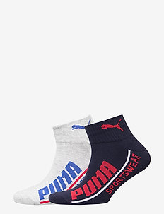 PUMA MEN  LOGO QUARTER 2P - knöchelsocken - blue combo