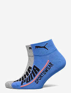 PUMA MEN  LOGO QUARTER 2P - knöchelsocken - blue / red