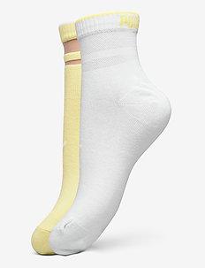 PUMA SHORT SOCK STRUCTURE 2P WOMEN - sous-vêtements - yellow