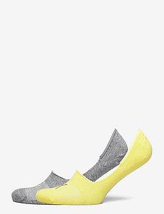 PUMA FOOTIE 2P UNISEX - skarpety za kostkę - yellow