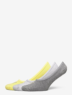 PUMA FOOTIE 3P UNISEX - ankle socks - yellow