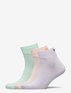 PUMA UNISEX LIFESTYLE QUARTERS 3P - tavalliset sukat - mixed colors
