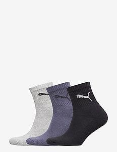 PUMA SHORT CREW 3P UNISEX - tavalliset sukat - navy/grey/nightshadow blue