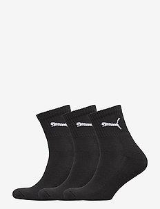 PUMA SHORT CREW 3P UNISEX - vanlige sokker - black