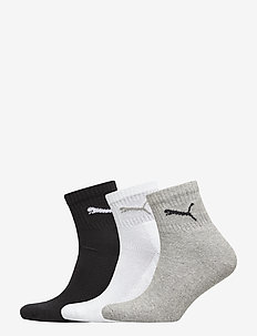 PUMA SHORT CREW 3P UNISEX - vanlige sokker - grey/white/black
