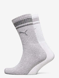 PUMA CREW HERITAGE STRIPE 2P UNISEX - regular socks - light grey melange