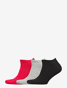 PUMA UNISEX SNEAKER PLAIN 3P - knöchelsocken - black/red