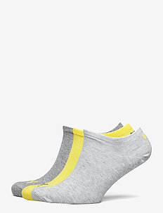 PUMA UNISEX SNEAKER PLAIN 3P - skarpety za kostkę - yellow