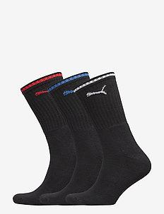 PUMA SPORT CREW STRIPE 3P - normale sokken - black