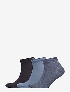 PUMA UNISEX QUARTER PLAIN 3P - knöchelsocken - denim blue