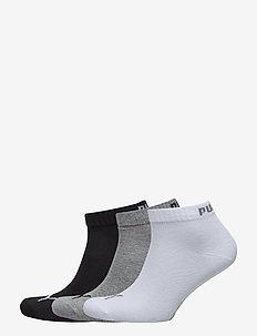PUMA UNISEX QUARTER PLAIN 3P - ankelsokker - grey/white/black