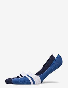 PUMA HERITAGE FOOTIE 2P UNISEX - ankle socks - blue combo